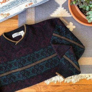 Vintage Cozy Knit Grandpa Sweater